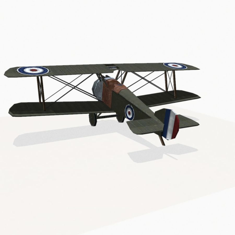 Sopwith Camel royalty-free 3d model - Preview no. 8