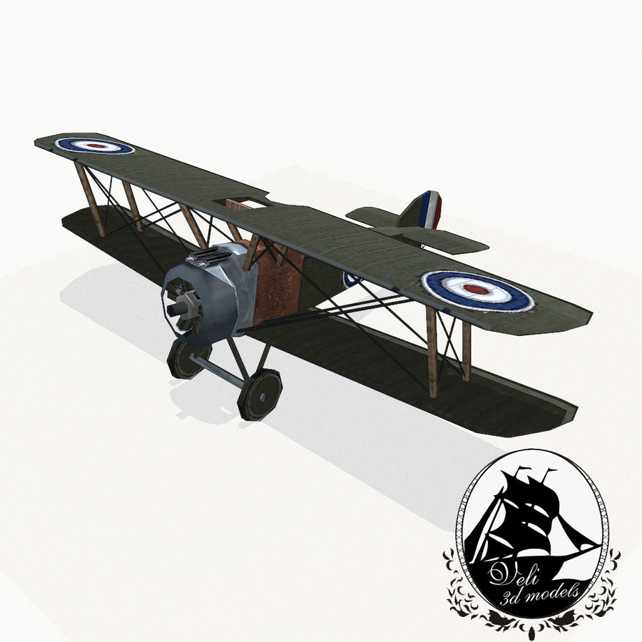 Sopwith Camel royalty-free 3d model - Preview no. 1