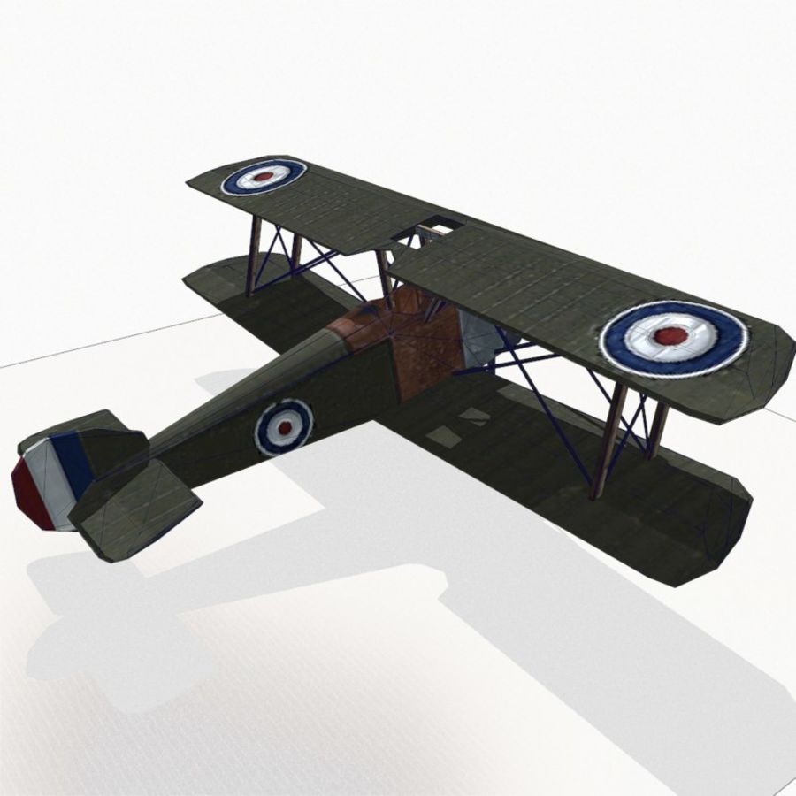 Sopwith Camel royalty-free 3d model - Preview no. 13