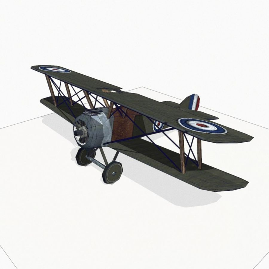 Sopwith Camel royalty-free 3d model - Preview no. 11