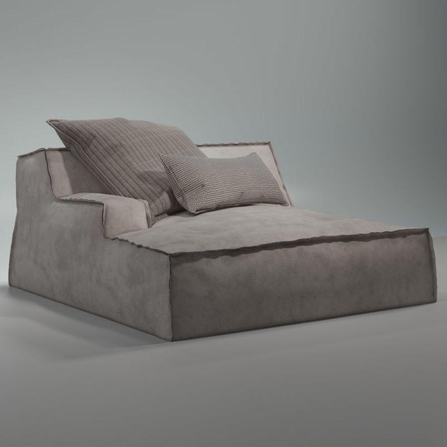沙发Baxter Damasco royalty-free 3d model - Preview no. 2
