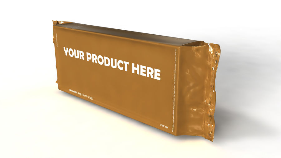 Naylon ürün paketi royalty-free 3d model - Preview no. 3