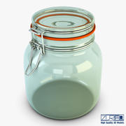 Jar hermetic 1 liter v 1 3d model