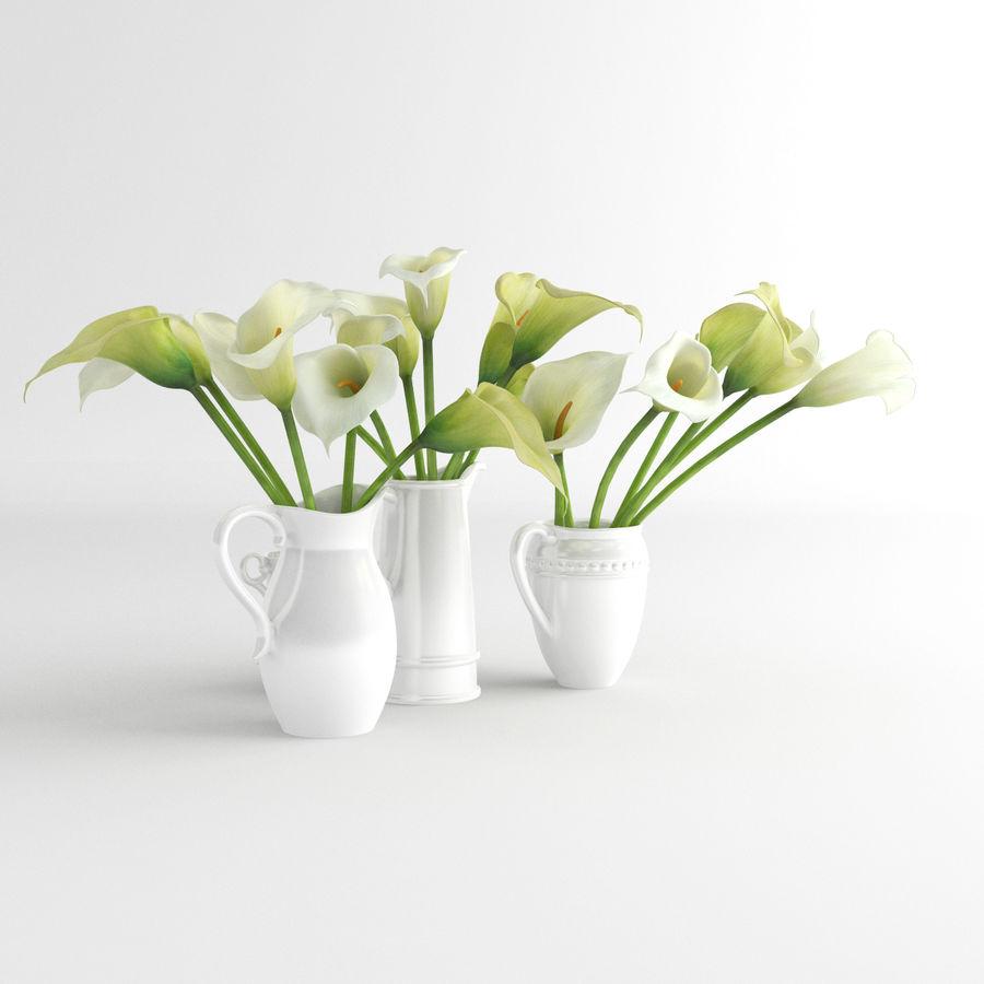 Calla lily flower pottery 3d model 19 obj fbx x free3d calla lily flower pottery royalty free 3d model preview no 3 izmirmasajfo