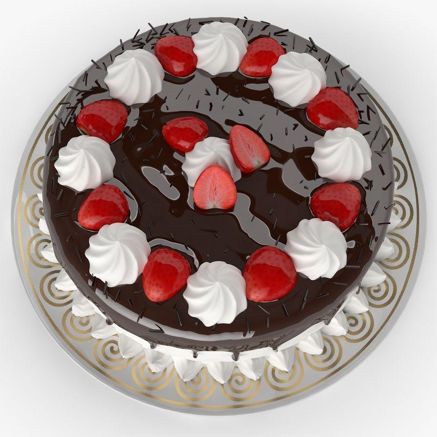 Torta al cioccolato royalty-free 3d model - Preview no. 3
