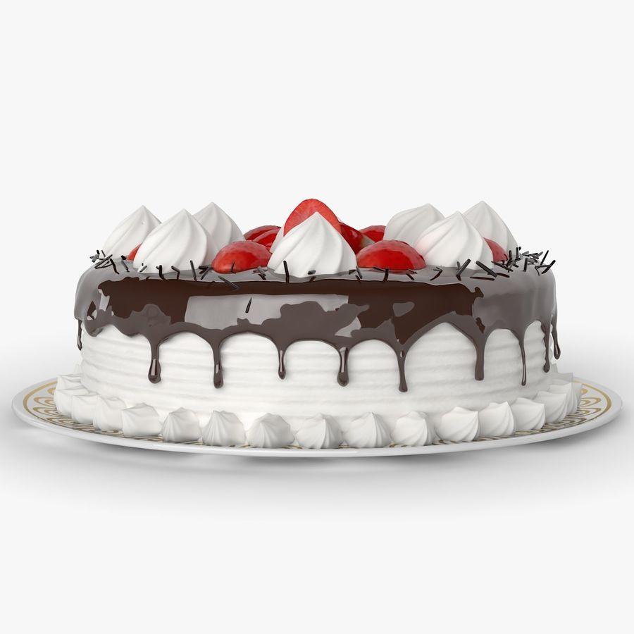 Torta al cioccolato royalty-free 3d model - Preview no. 2