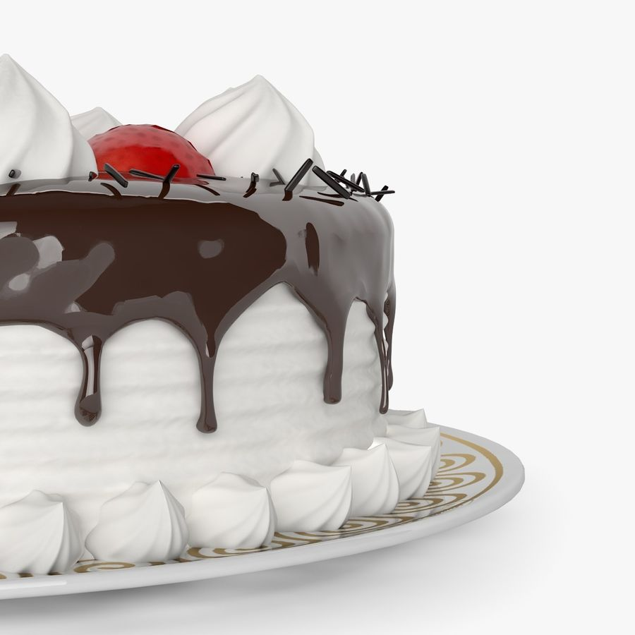 Torta al cioccolato royalty-free 3d model - Preview no. 4
