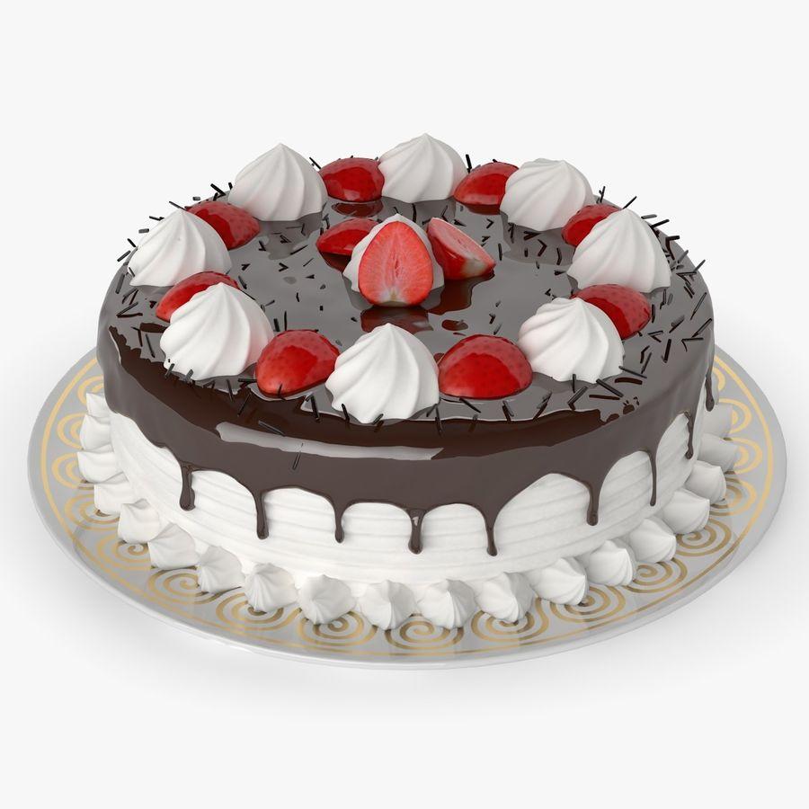 Torta al cioccolato royalty-free 3d model - Preview no. 1