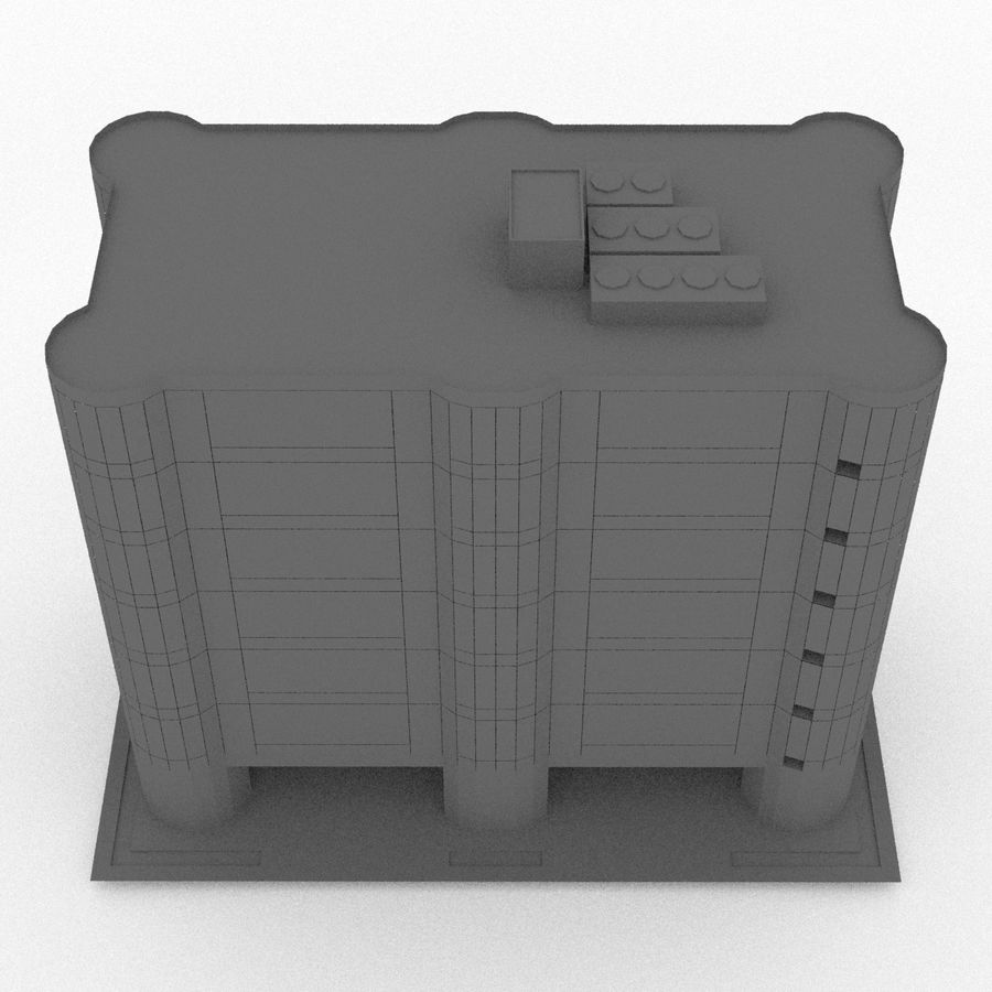 Office Build 28 royalty-free 3d model - Preview no. 15