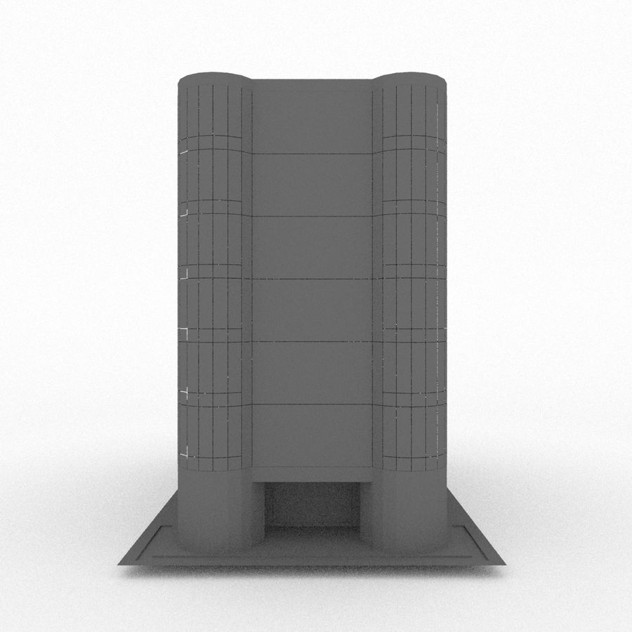 Office Build 28 royalty-free 3d model - Preview no. 11