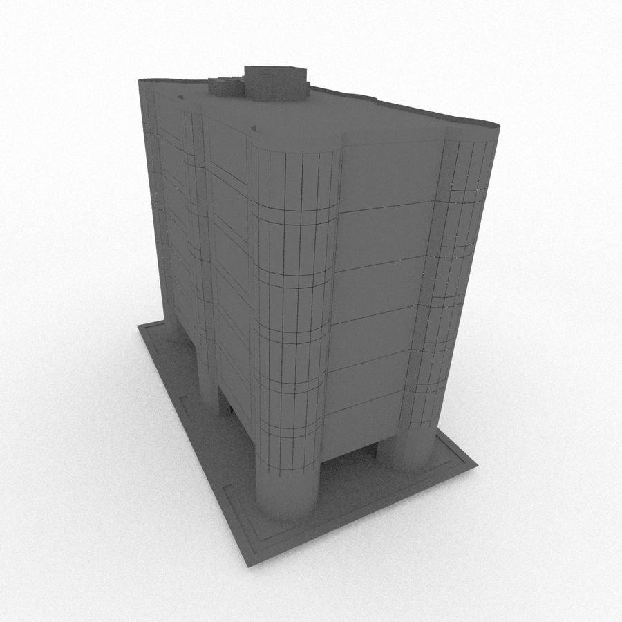 Office Build 28 royalty-free 3d model - Preview no. 7