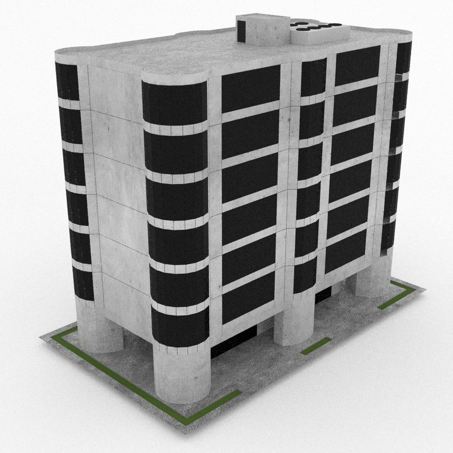 Office Build 28 royalty-free 3d model - Preview no. 1