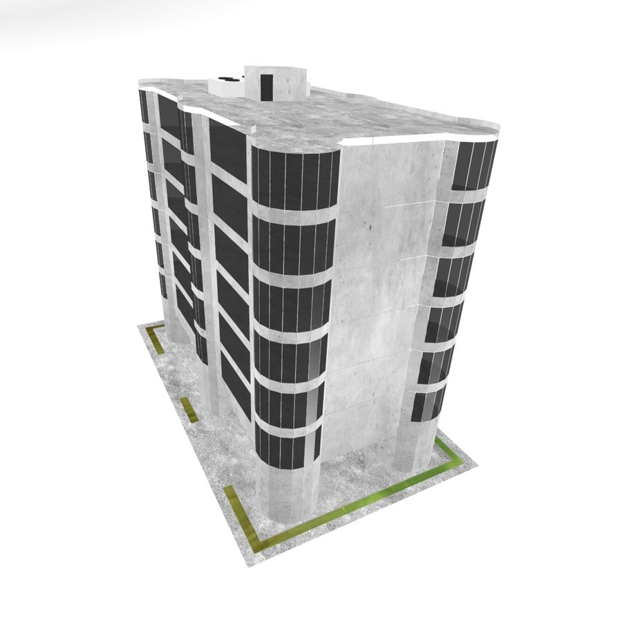 Office Build 28 royalty-free 3d model - Preview no. 6