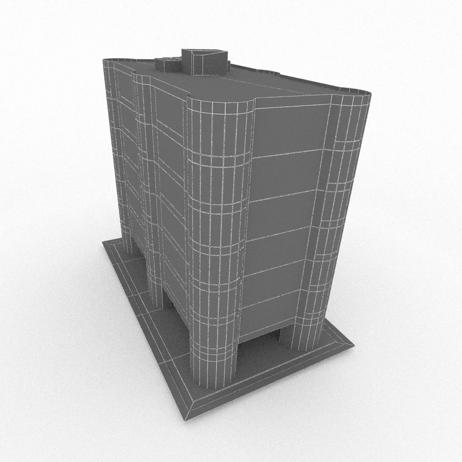 Office Build 28 royalty-free 3d model - Preview no. 8