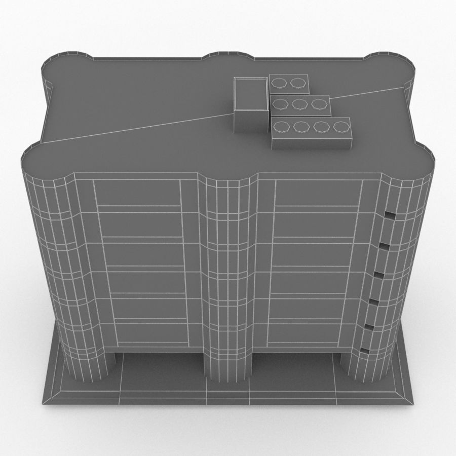 Office Build 28 royalty-free 3d model - Preview no. 16