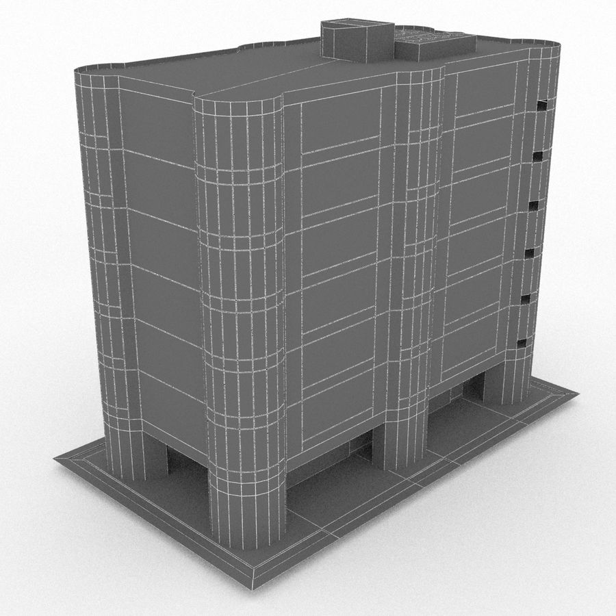Office Build 28 royalty-free 3d model - Preview no. 4