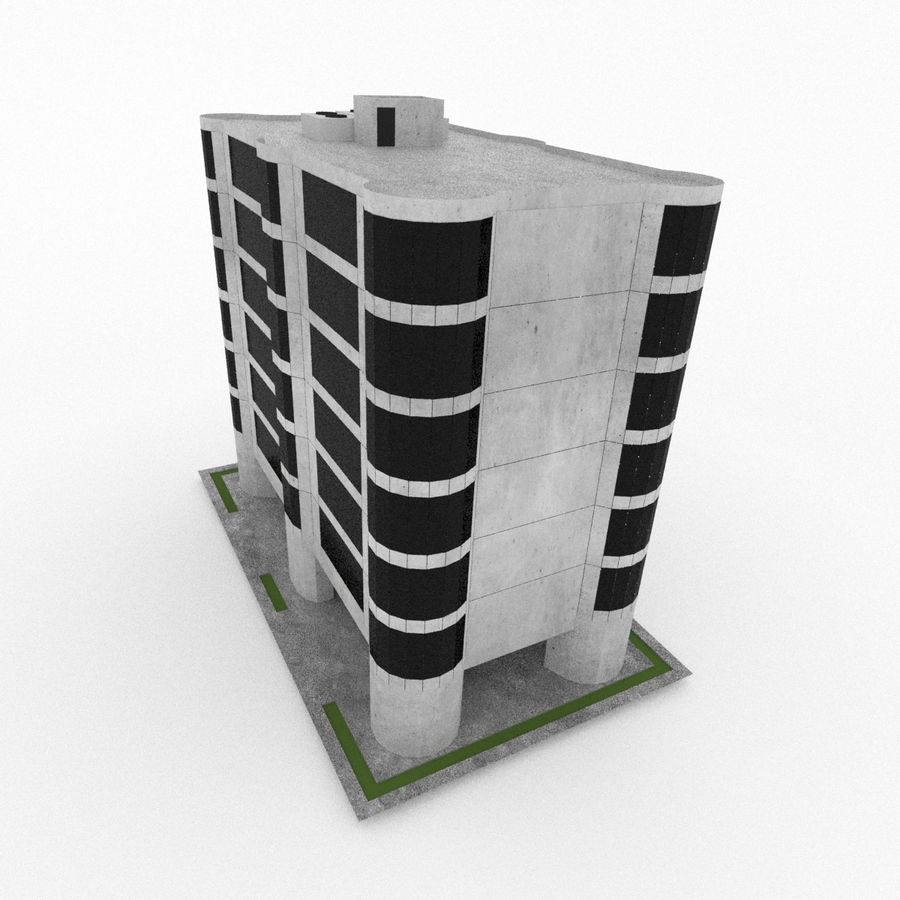 Office Build 28 royalty-free 3d model - Preview no. 5