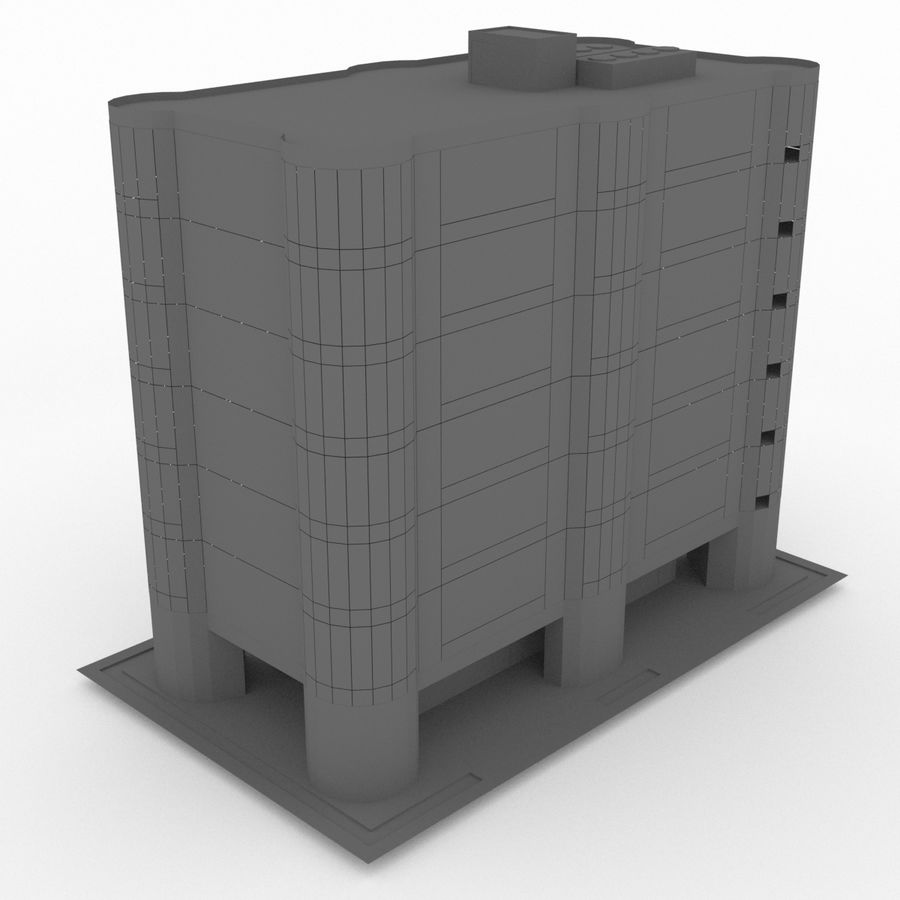 Office Build 28 royalty-free 3d model - Preview no. 3