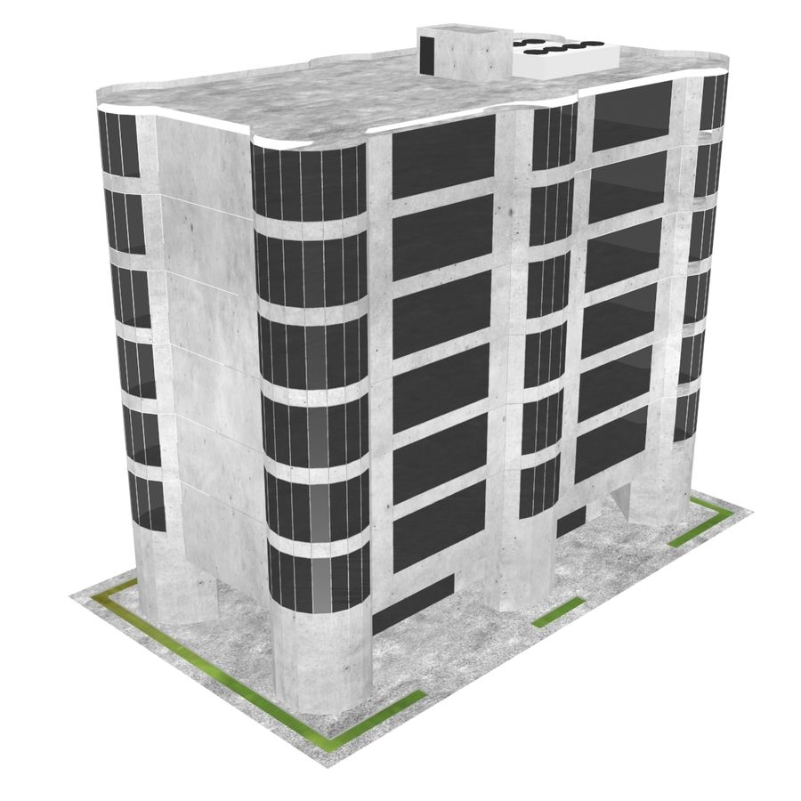 Office Build 28 royalty-free 3d model - Preview no. 2