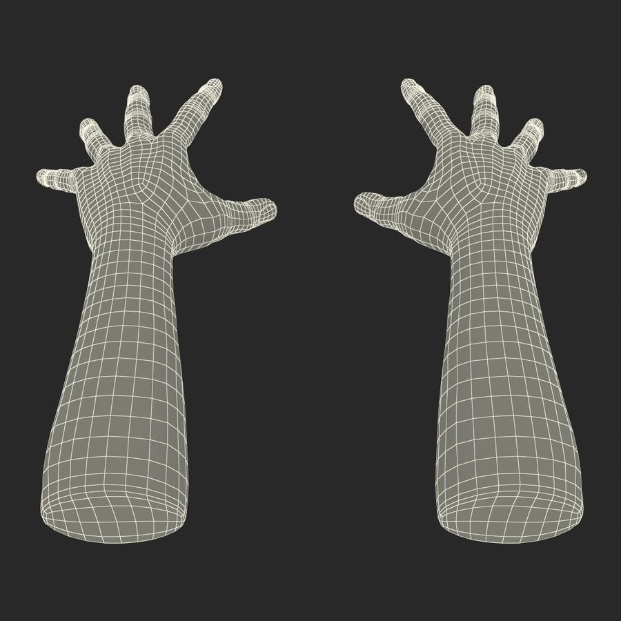 Man Hands 2 Pose 4 royalty-free 3d model - Preview no. 17