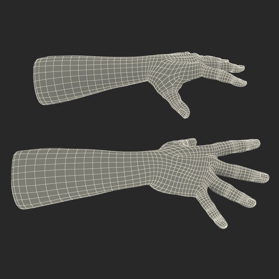 Man Hands 2 Pose 4 royalty-free 3d model - Preview no. 19