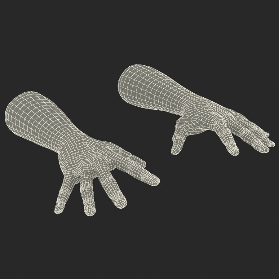 Man Hands 2 Pose 4 royalty-free 3d model - Preview no. 20