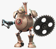 Robot Steampunk 3d model