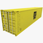 Recipiente de Transporte Mediterrâneo (MSC) Amarelo 3d model