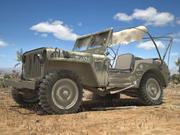 Jeep Willys Damaged 3d model