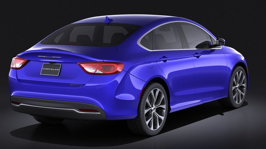 Chrysler 200 2017 royalty-free 3d model - Preview no. 6