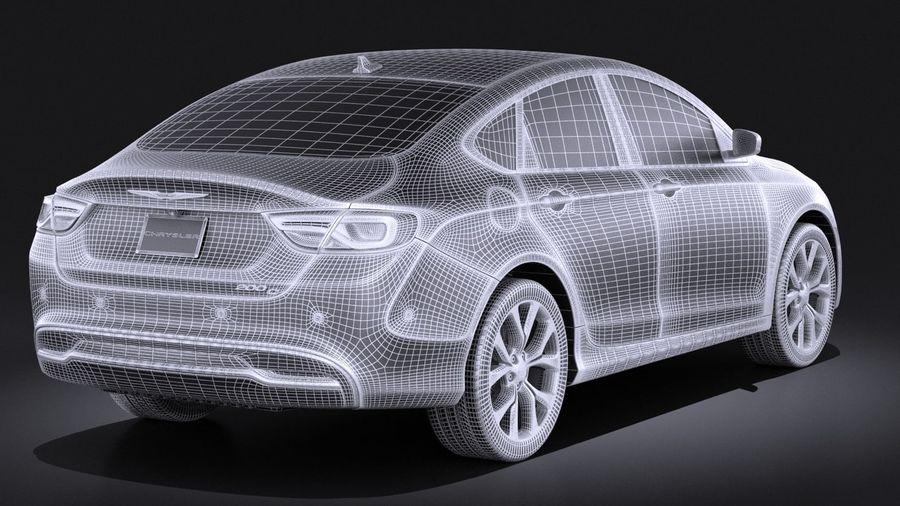 Chrysler 200 2017 royalty-free 3d model - Preview no. 14