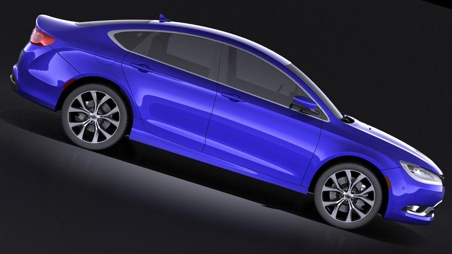 Chrysler 200 2017 royalty-free 3d model - Preview no. 7