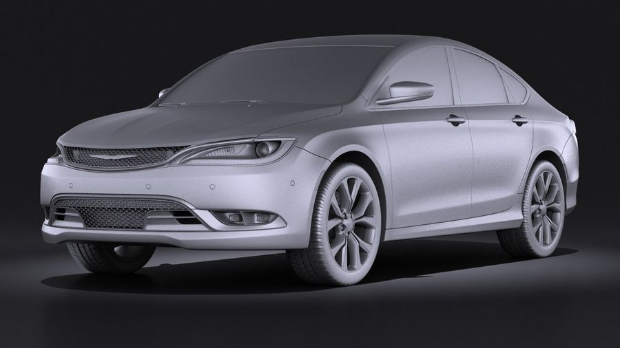 Chrysler 200 2017 royalty-free 3d model - Preview no. 9