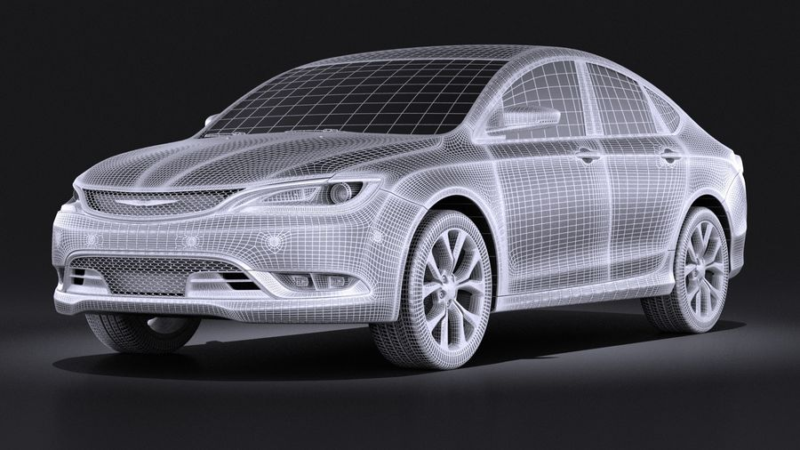 Chrysler 200 2017 royalty-free 3d model - Preview no. 13