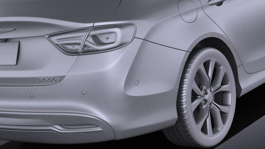 Chrysler 200 2017 royalty-free 3d model - Preview no. 11