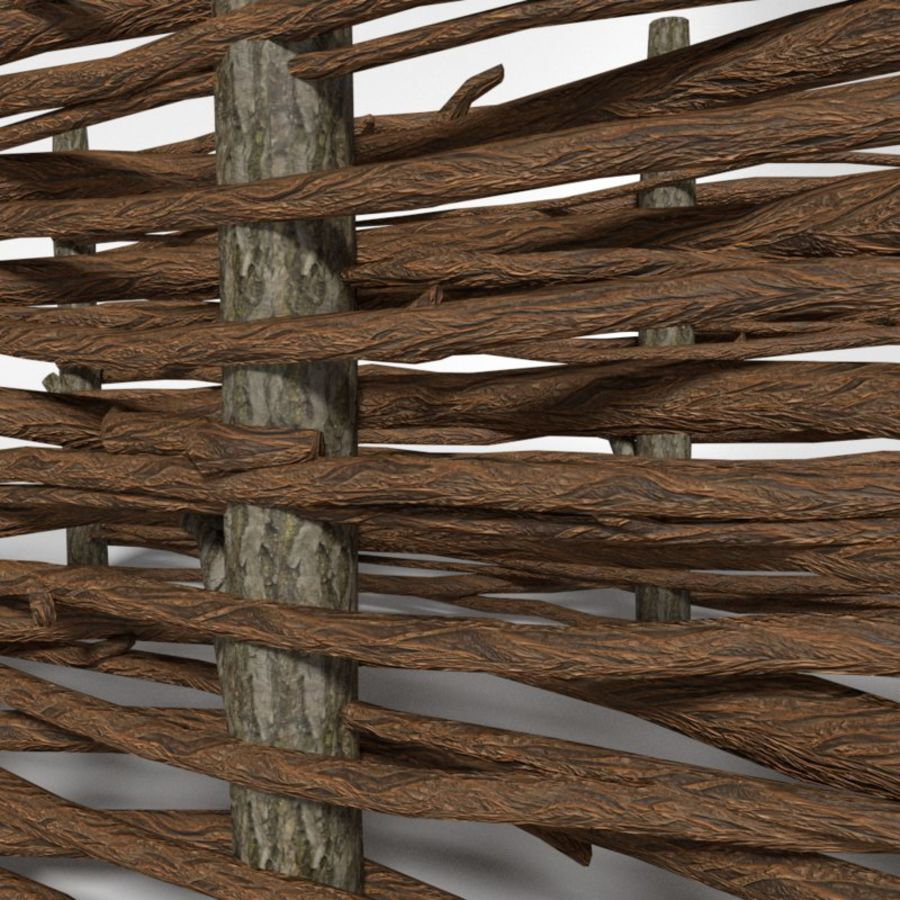 Wooden fence 3d model 3 obj oth fbx blend free3d for 3d fence