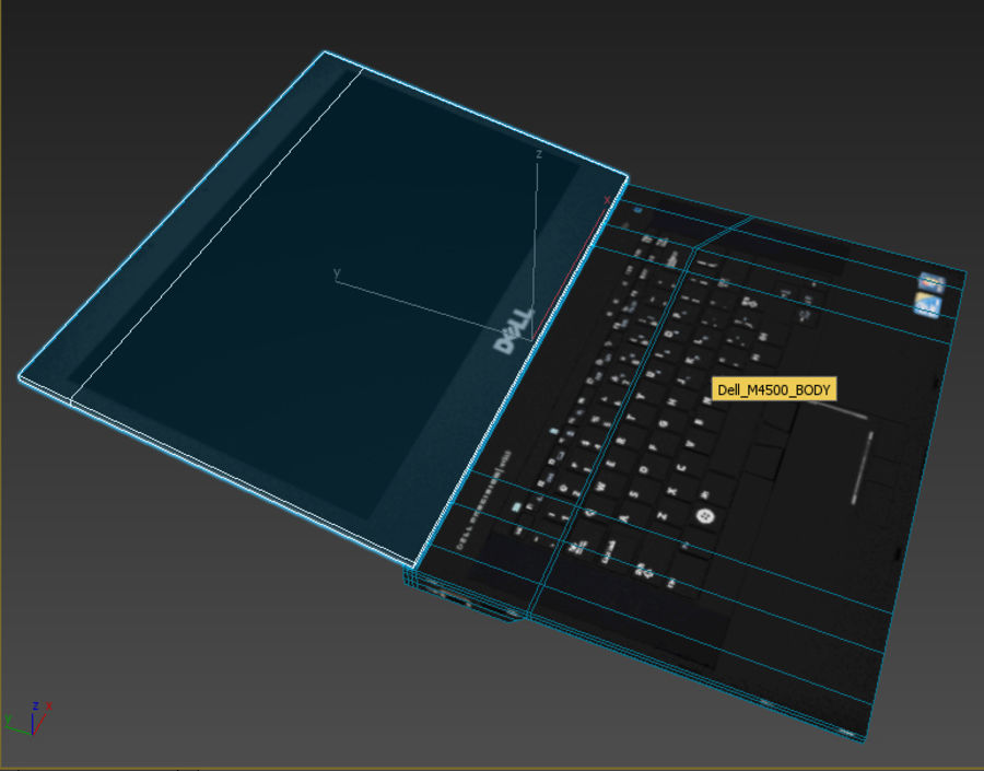 DELL M4500 LOW POLY royalty-free 3d model - Preview no. 3