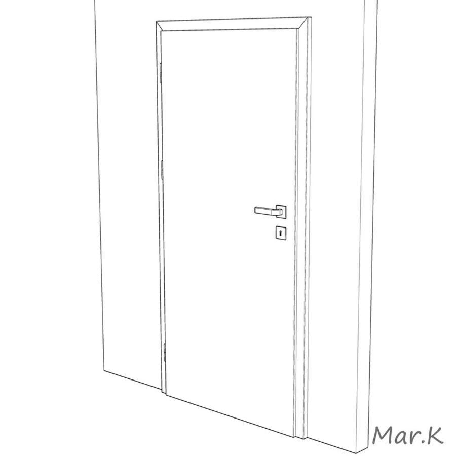 Interior Door royalty-free 3d model - Preview no. 7
