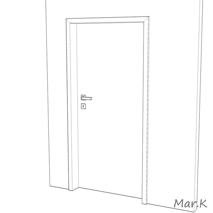 Interior Door royalty-free 3d model - Preview no. 6