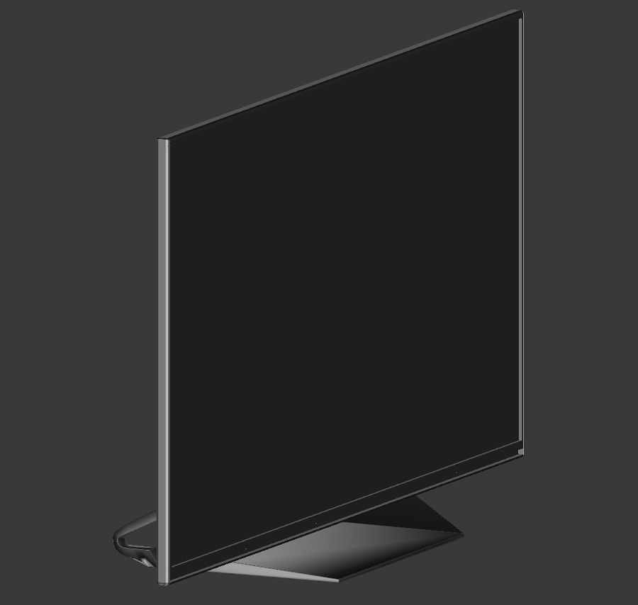 LG TV (LOW POLY) royalty-free 3d model - Preview no. 7