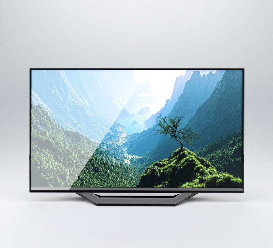 LG TV (LOW POLY) royalty-free 3d model - Preview no. 3