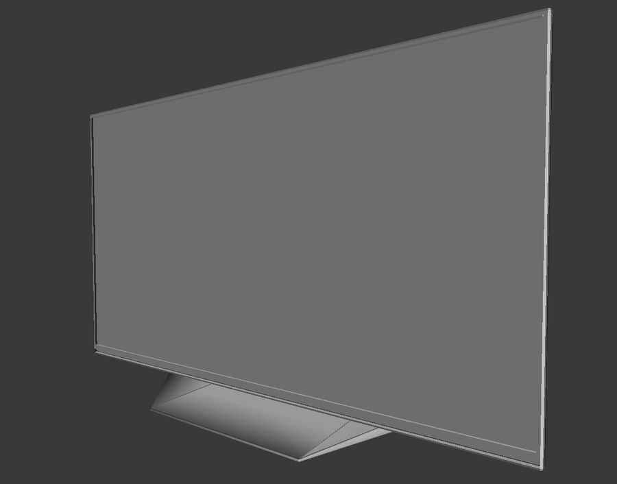 LG TV (LOW POLY) royalty-free 3d model - Preview no. 5