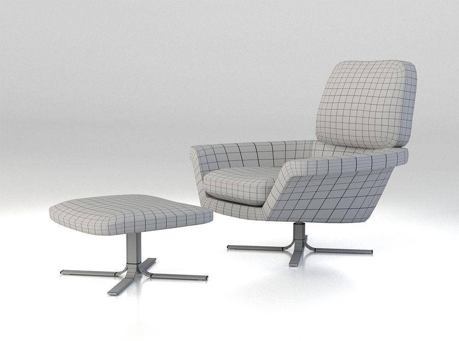 Minotti Blake-Soft lounge stol royalty-free 3d model - Preview no. 6