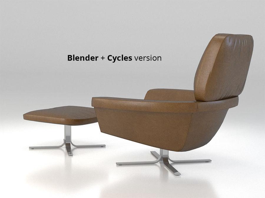 Minotti Blake Soft Lounge Chair Set Royalty Free 3d Model   Preview No.
