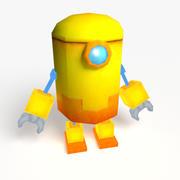Cute Yellow Robot 3d model