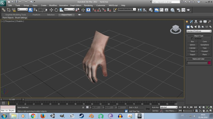 Realistic Low-poly Hand Base Mesh royalty-free 3d model - Preview no. 11