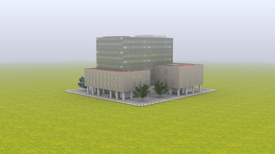 building school royalty-free 3d model - Preview no. 8