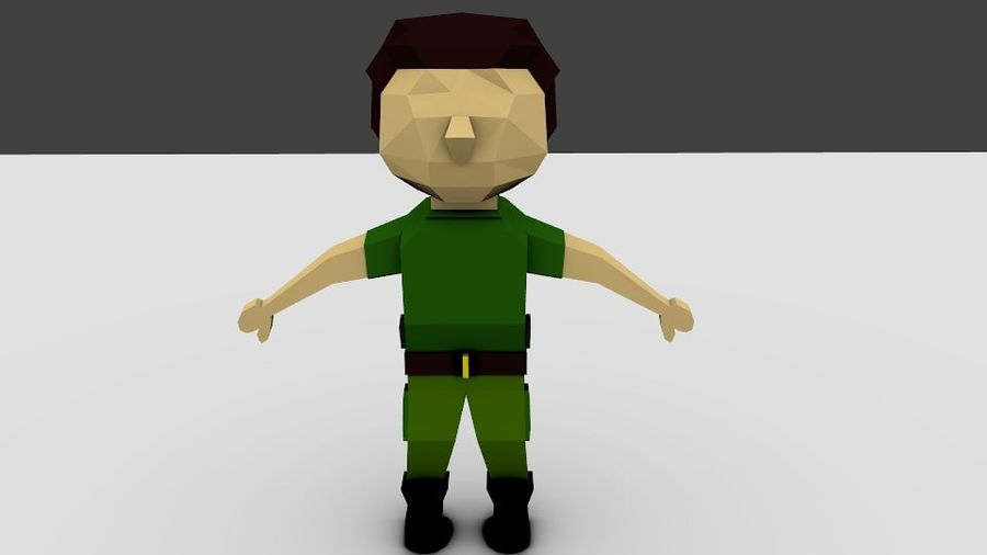 Low poly Character rigged 3D Model $1 -  unknown  obj  fbx