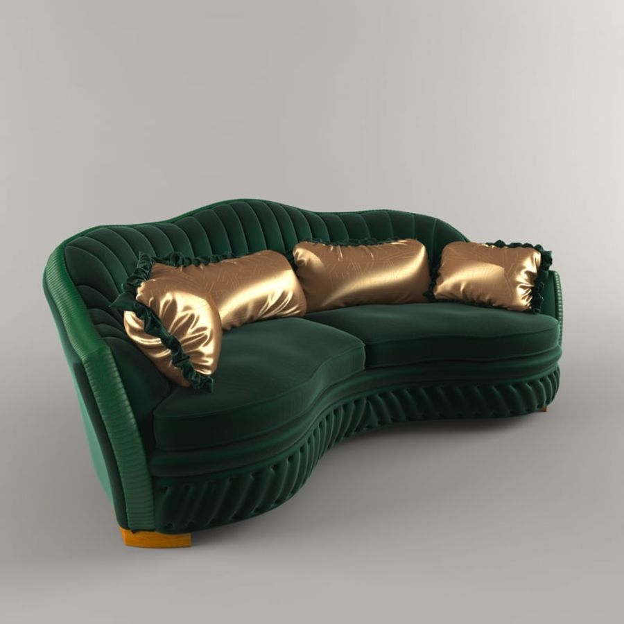 Sofa Zanaboni chester 2 seats royalty-free 3d model - Preview no. 2
