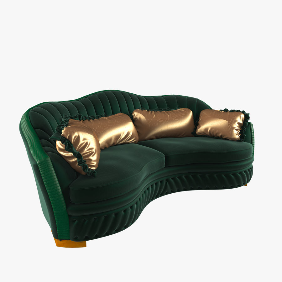 Sofa Zanaboni chester 2 seats royalty-free 3d model - Preview no. 1